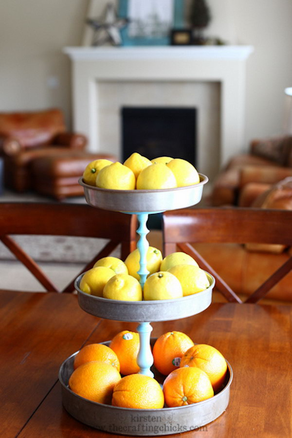 Pottery Barn Inspired DIY 3 Tiered Stand