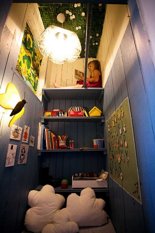 An Ordinary Closet Turned Into A Small Hide Out For Kids