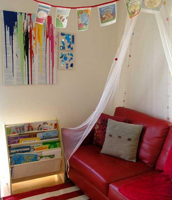 Book Corner for Organizing Kids Stuff