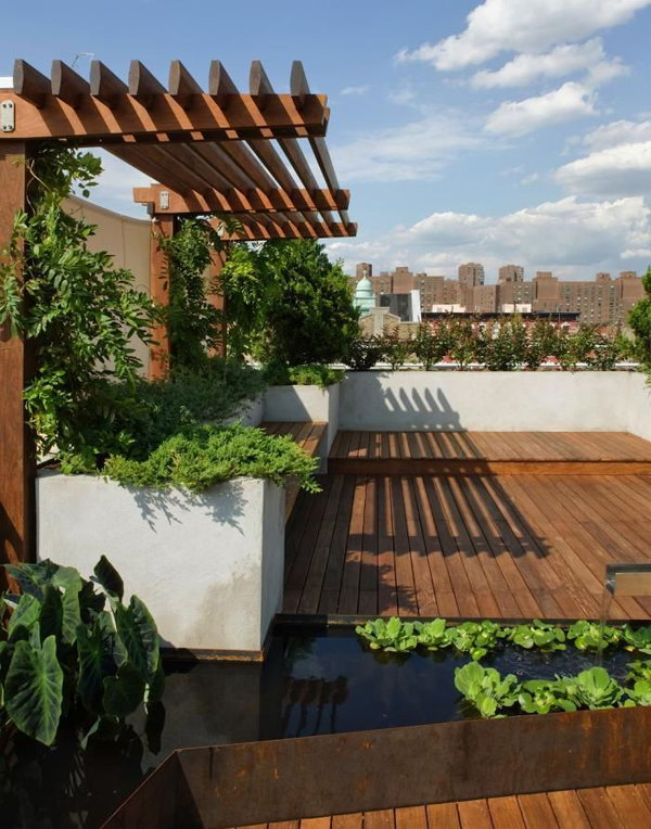 Roof Gardens With Ponds