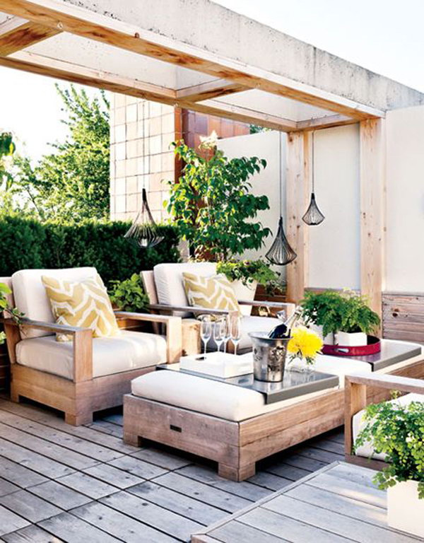 Beautiful Rooftoop Garden Decoration