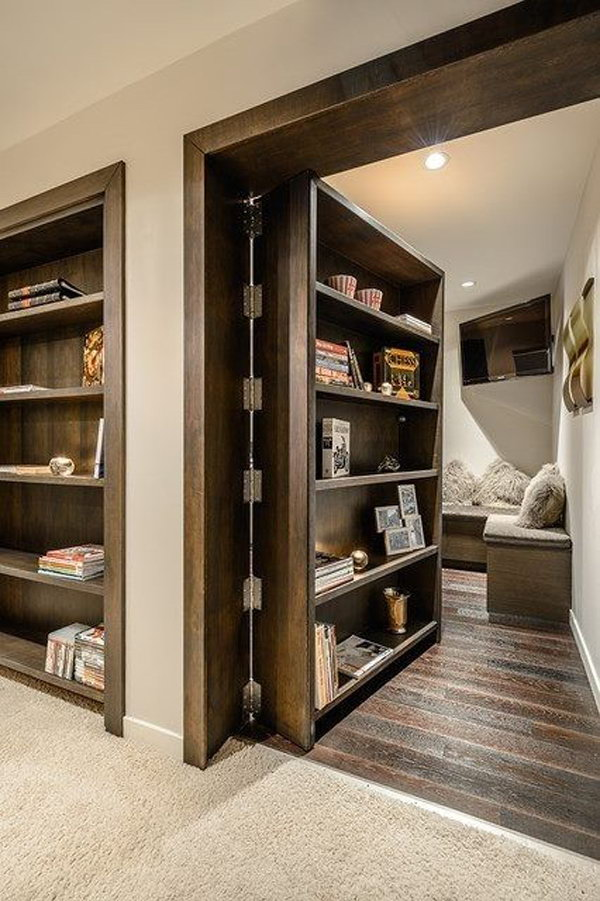 Clever Bookcase Secret Rooms