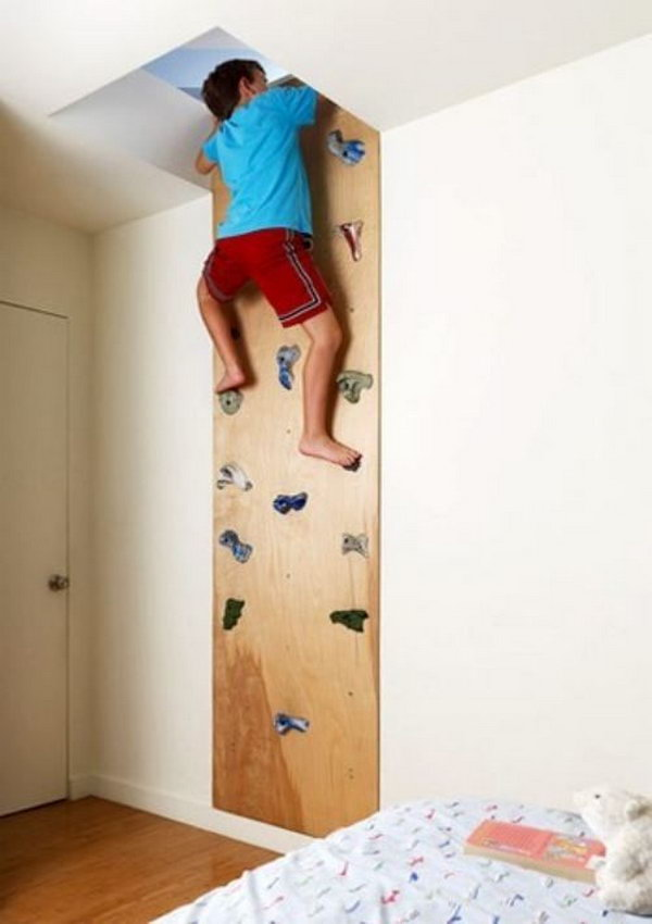 A Rock Climbing Wall Leads To This Secret Room