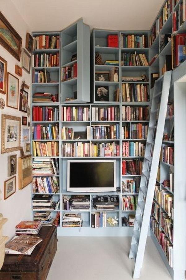 Hidden Bookcase Door In Library