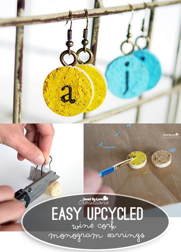 DIY Easy Monogram Earrings