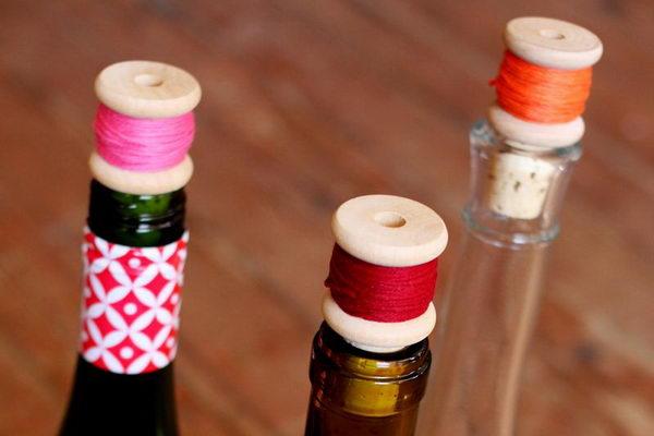 DIY Wine Cork Thread Spool