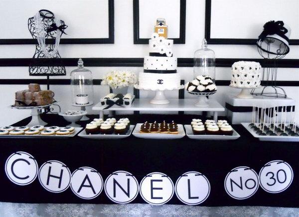 Chanel Birthday Dessert Table.