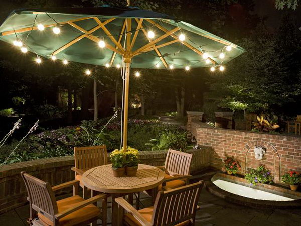 Umbrella Lights for Backyard.