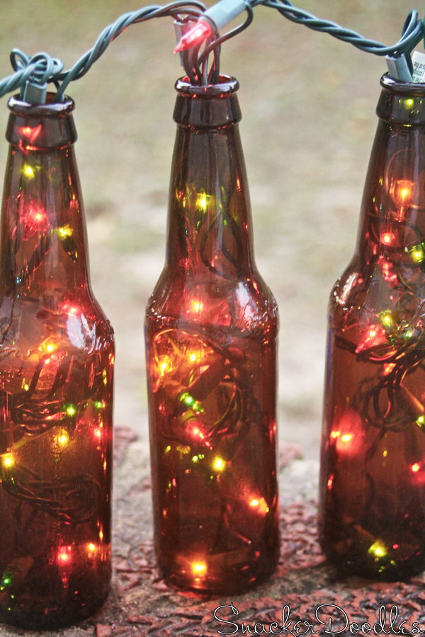 Beer Bottle Table Runner.