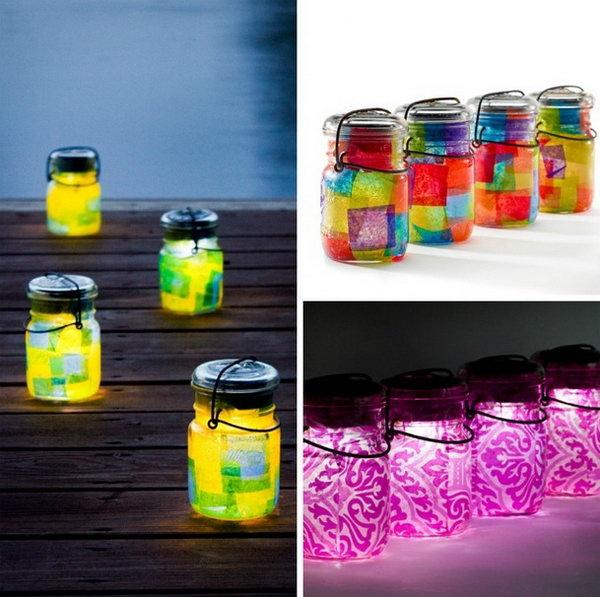 Mason Jar Solar Lights.