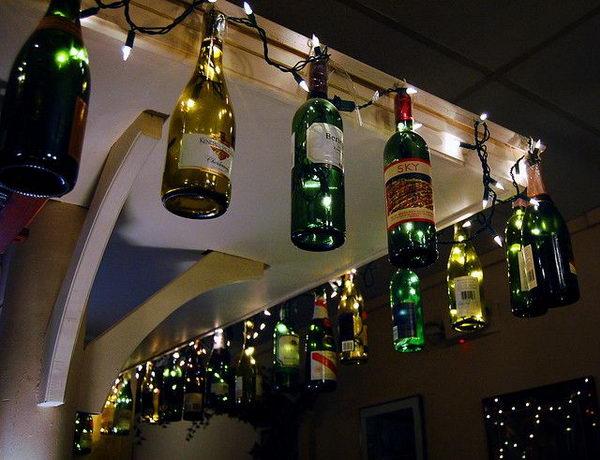 Wine Bottle Lighting For Backyard.