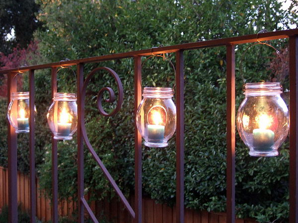 Hanging Railing Jars.  Get the directions