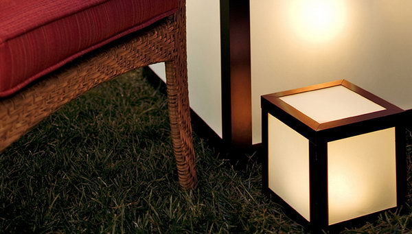 Outdoor Lighted Cube Table. See more details