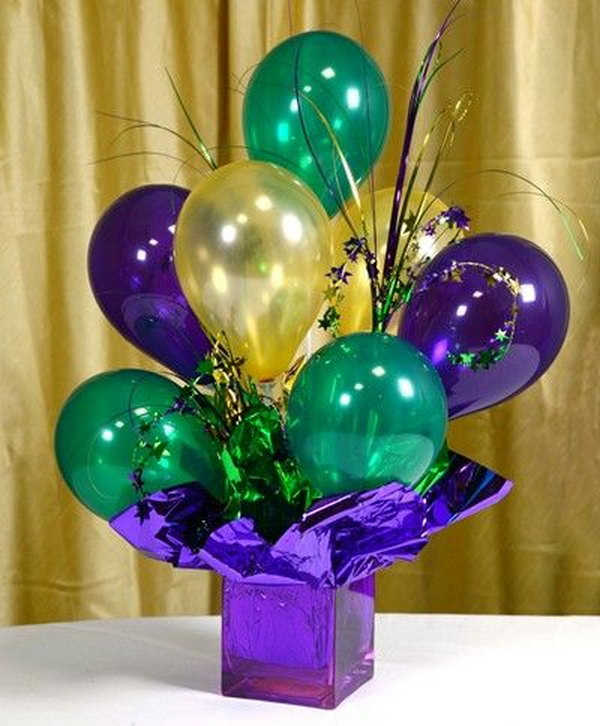 Air filled Balloon Centerpieces.