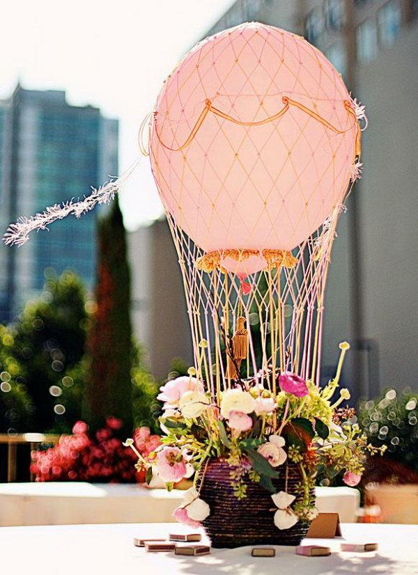 Hot Air Balloon Centerpiece.