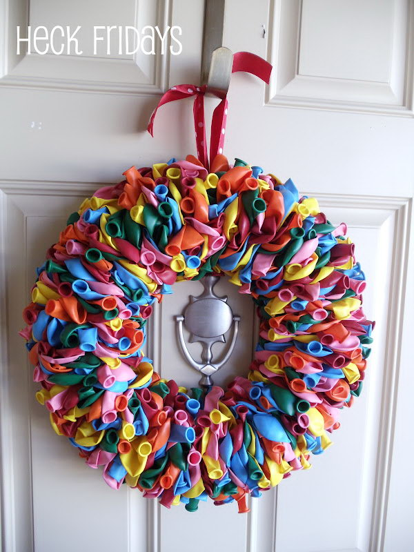 Birthday Balloon Wreath.