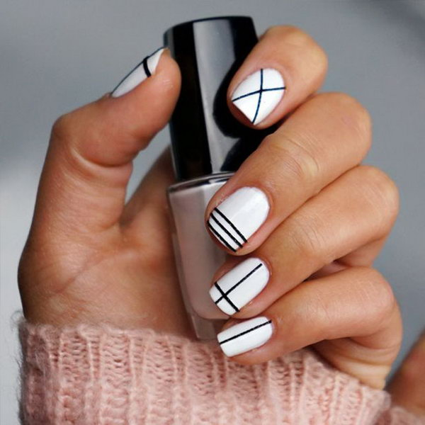Strips of Tape Nails.