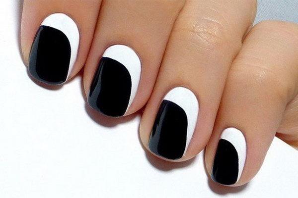 Asymmetrical Crescent Nails.