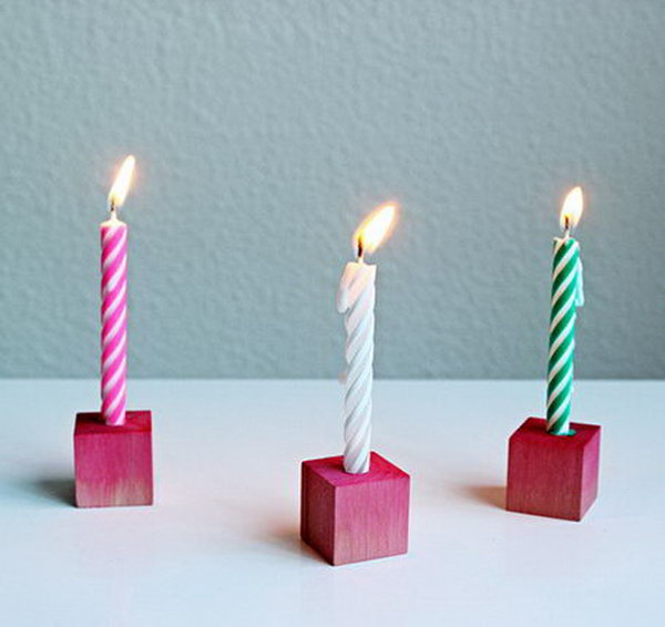 Block Birthday Candle. See the steps