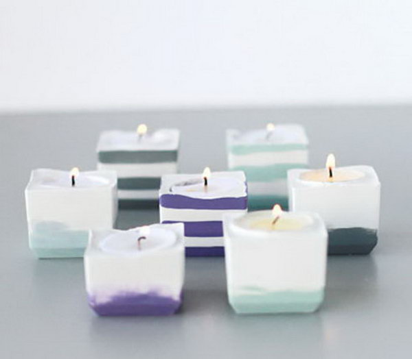 Ice Cube Tray Votive Holders. Get the tutorial