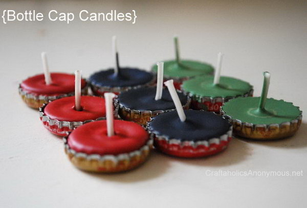 Bottle Cap Candle Holder. See how