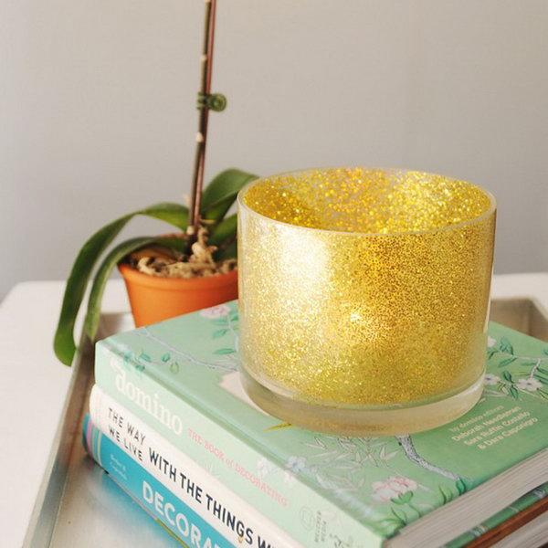 Glitter Votive Holder. See the details