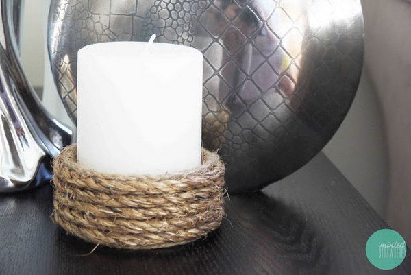 Rope Wrapped Candle Holder. Check out the steps