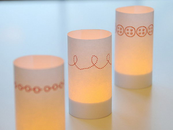 Paper Candle Wraps. Get the instructions