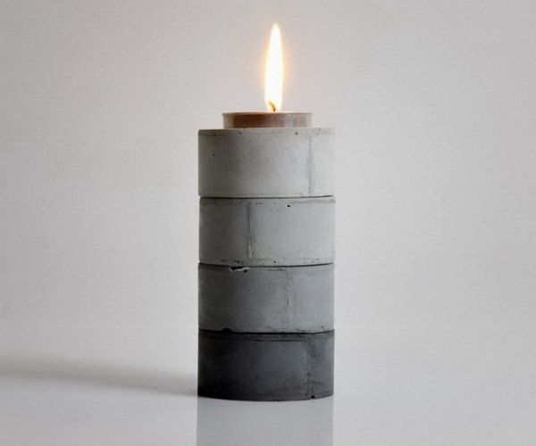 DIY Stackable Gradient Candle Holders. See more