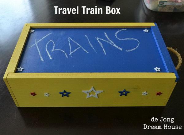 DIY Travel Train Box for Kids