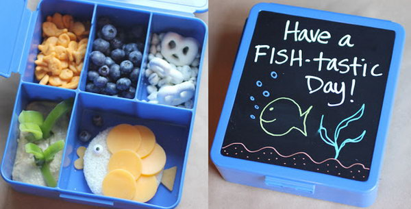 Bento Lunch Box with Chalkboard Note Area