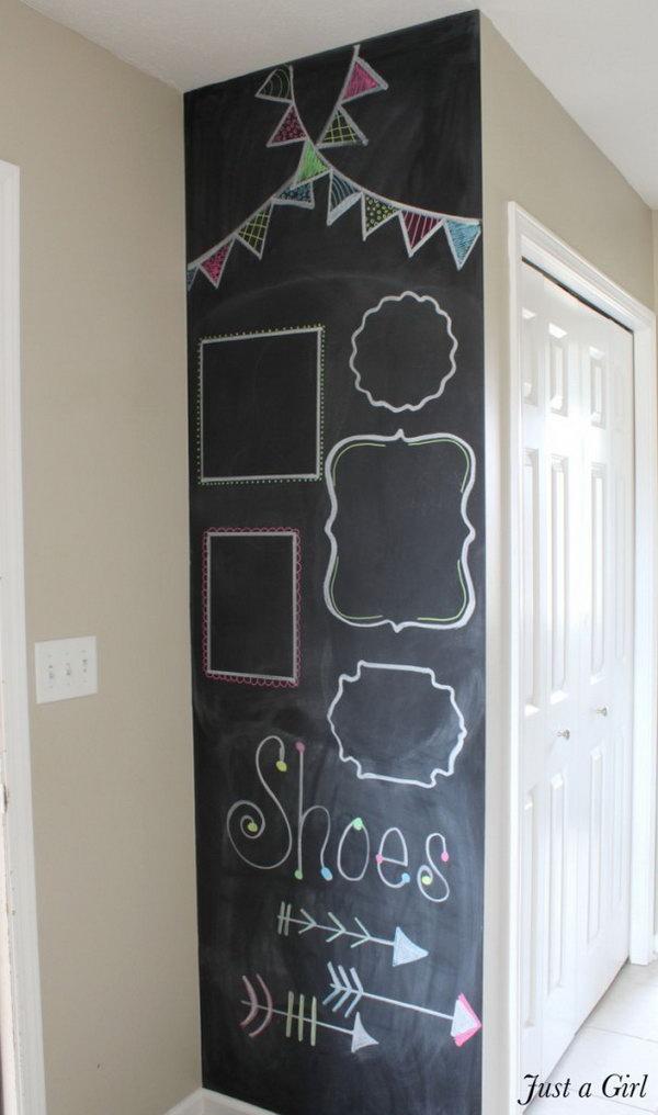 DIY Chalkboard Wall for Kids' Room