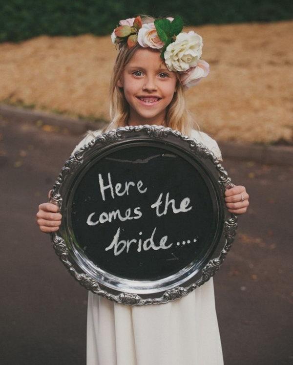 Flower Girl Sign.