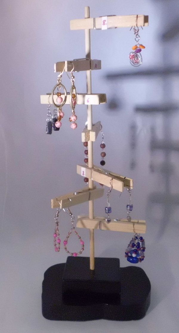 Unique Earring Display.