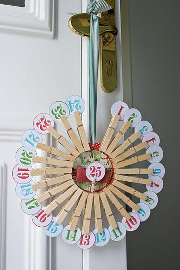 Advent Countdown Calendar and Wreath.