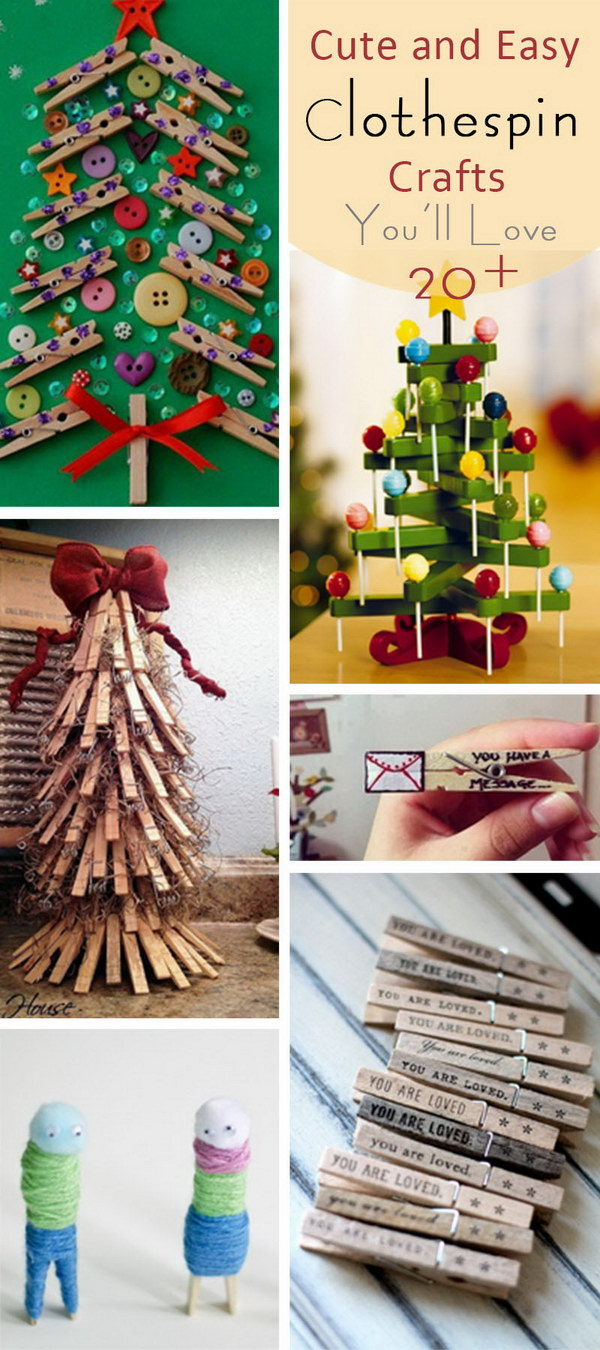 Cute and Easy Clothespin Crafts You'll Love!