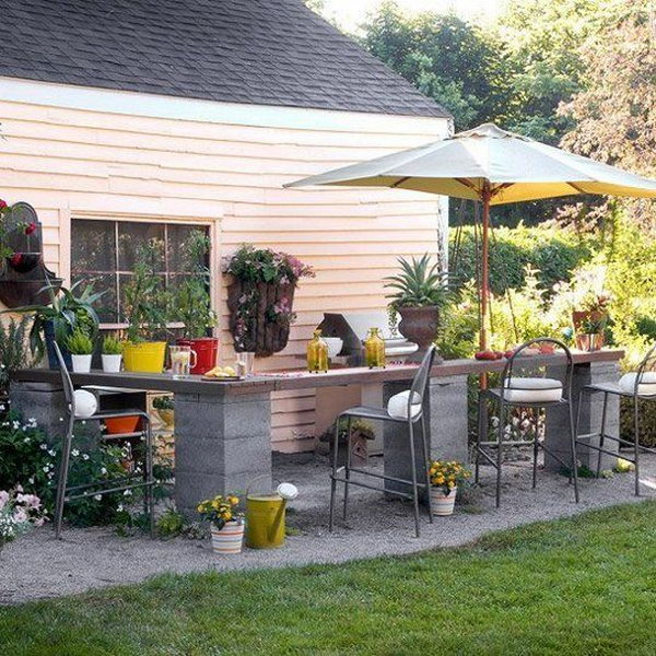 Affordable Outdoor Kitchen.
