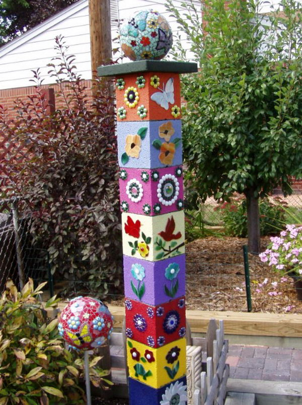 Cute and Decorative Totem Sculpture for Your Garden.