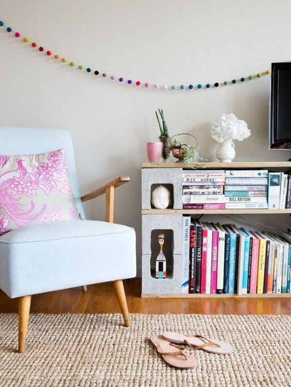 Cinder Block Bookshelf.