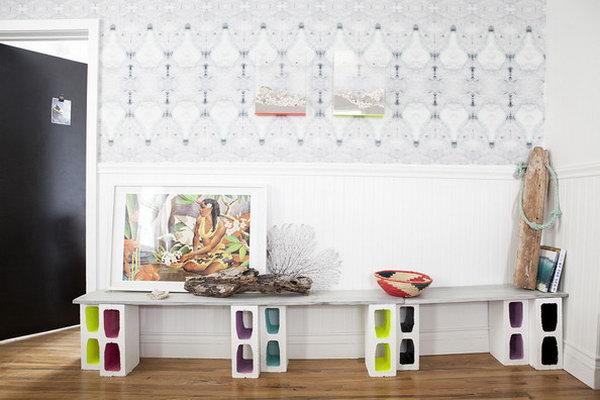 Colored Block Shelf.