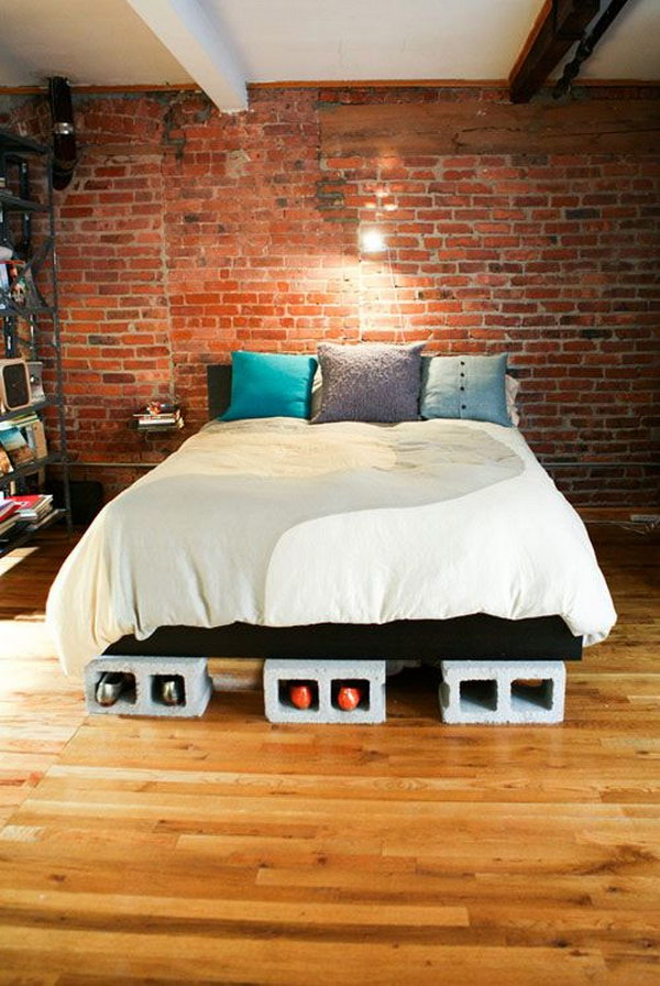 Cinder Block Bed Risers.