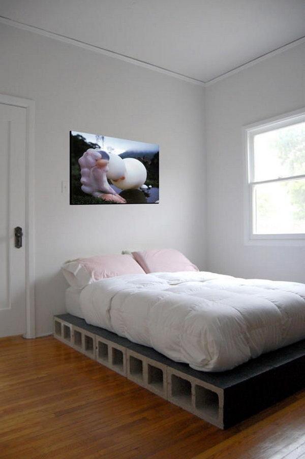 Cinder Block Platform Bed.