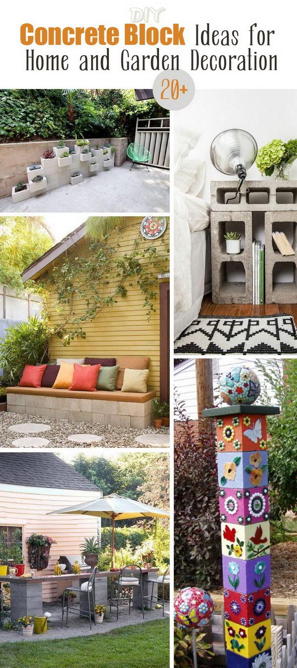 DIY Concrete Block Ideas for Home and Garden Decoration!