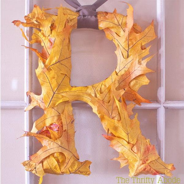 Fall Leaf Initial.