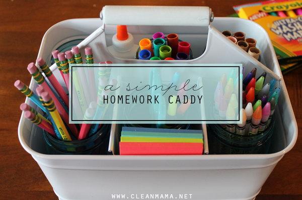 A Simple Homework Caddy