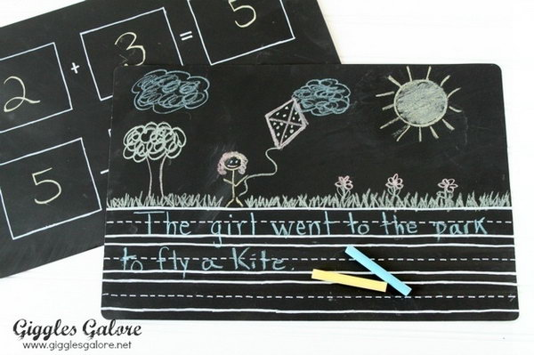 DIY Chalkboard Placemats That Make Learning Fun