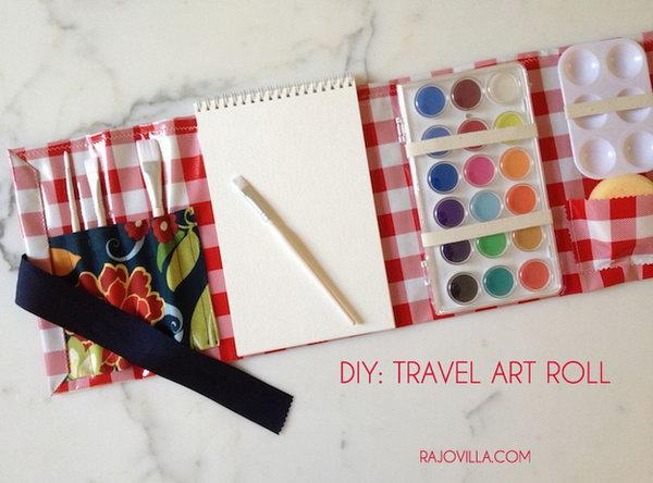 DIY Travel Art Roll