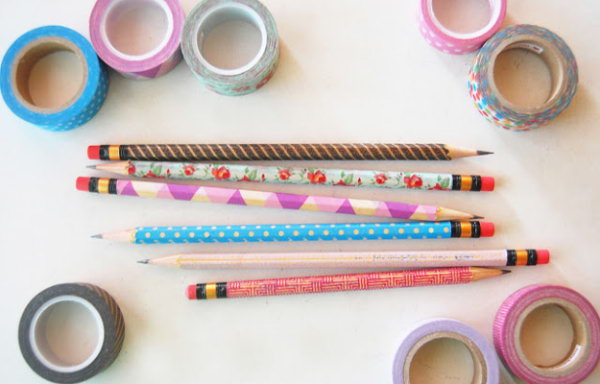Decorate Your Pencils with Washi Tape