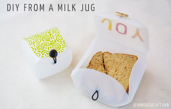 DIY Lunchbox Container from a Milk Jug