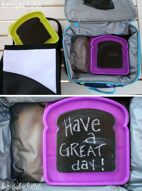 Chalkboard Paint Lunchbox